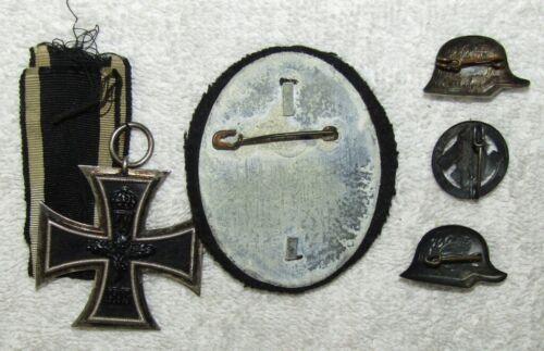 5pcs-WW1 EK2-3pcs Stahlhelm Pins-1938 Dated Stahlhelm Competition Badge.
