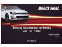 Mobile shine brings back that new car feeling •clean•fast•friendly•