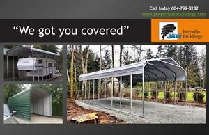 Cover your RV or Boat or.... Portable Metal Carports