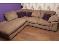* * * Confortable cord fabric corner SOFA BED. * * *