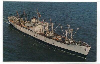 Usns Rigel T Af 58 Refrigerated Store Ship Us Navy Ship Warship Postcard