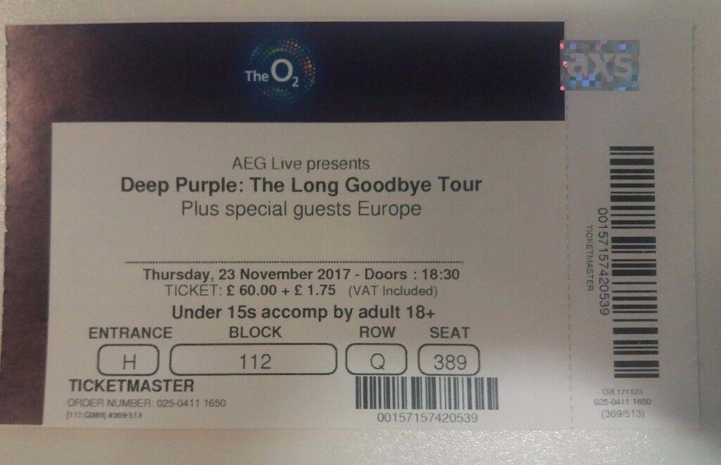 Deep Purple: The Long Goodbye Tour Ticket