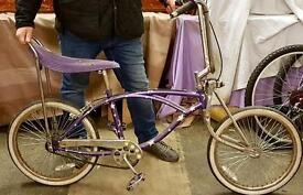 Low rider chopper bike