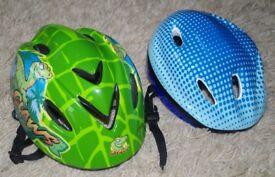 2 x Kids Bike Helmets