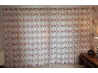 Curtains (extra wide) - Casedeco Fabric fully Lined & matching cushion covers