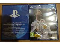 FIFA 18 for PS4, brand new, sealed + extra contents( see picture).
