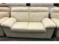Leather 2 seater + Armchair