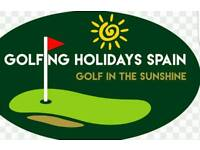 Golf tuition holiday