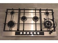 AEG HG956440SM gas hob 6 burners, brushed stainless steel