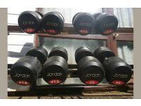 JORDAN COMMERCIAL RUBBER DUMBELLS SET 42.5kg 45kg 47.5kg 50kg