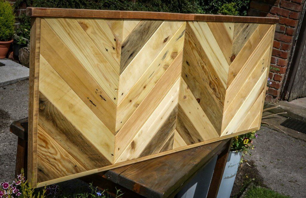 Brand New Handmade Double Bed Pallet Wood Rustic Headboard ...
