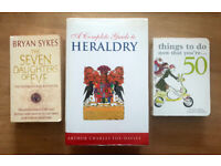 BOOK BUNDLE - The Seven Daughters of Eve, Guide To Heraldry, things to do now that you're 50