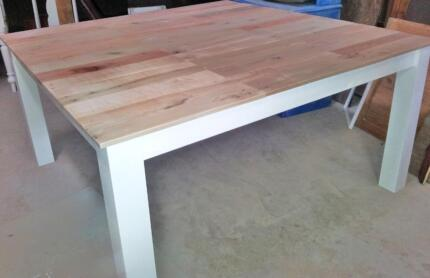 Rustic pallet wood dining table with square legs made to order Lonsdale Morphett Vale Area Preview