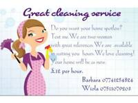 Great cleaning service £12 ph