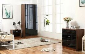 ☀️☀️LIMITED TIME OFFER☀️☀️ALINA 2 DOOR WARDROBE & BEDROOM SET- GOOD QUALITY IN A VERY CHEAP PRICE