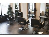 HAIRDRESSING FURNITURE 4 SALON CHAIRS AND 2 BACK WASH FOR SALE , 2 YEARS OLD.