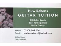 Guitar/Bass/Ukulele/Music Theory Lessons Available - Experienced Teacher SW London
