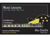 Private Guitar, Bass, Ukulele and Music Theory Tuition