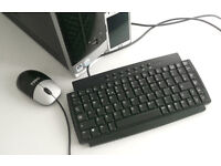 Micro Keyboard - BTC (9116, Ultra Small, PS/2) for Windows, Linux, Desktop PC, Computer