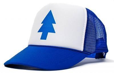 Dipper Gravity Falls Cartoon New Curved Bill 'BLUE PINE TREE' Hat Cap Trucker