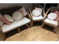 4 piece conservatory/wicker furniture set