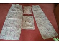 Next Ditsy Lace Print Shabby Chic Single Bedding set, Curtains & Cushion
