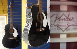 Guitare ÉLECTRO/ACOUSTIQUE usagée FENDER Sonoran SCE Fishman Preamp COMME NEUVE