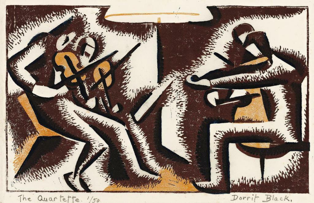 The String Quartet : Dorrit Black : circa 1935 Archival Qual