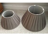 PAIR OF MATCHING LAMPSHADES VERY GOOD QUALITY