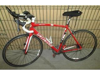 Specialized Allez Elite Aluminium 18 speed Road Bike E5 Fact Carbon forks 56cm frame Look KEO pedals