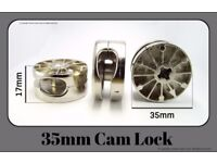 35mm Cam Lock Fitting for Flat Pack Furniture KD Knockdown (EM3501) Pack of 3