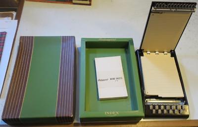 Vintage Deco Unused Autopoint Index Bakelite Address Book,orig. box,memo sheets