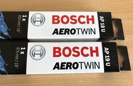 Pair of Bosch AeroTwin Wiper Blades AP18U & AP19U