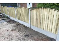 Pressure Treated Bow Top Feather Edge Wooden Fence Panels 🌳