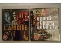 PS 3 Games - Grand Theft Auto IV and LA Noire - Individually Priced