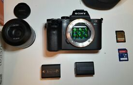 Sony A7 Mark II Body Only Low shutter count, Mirrorless Camera 2 SD Cards, 2 Batt., very good cond.