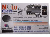 Satellite dish / tv aerial / sky dish/ CCTV / TV wall mounting / repair cables 24/7 start from £25
