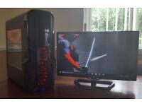 Gaming PC Computer AMD 7650K Quad 3.30Ghz Quad 16GB 180GB SSD + 1TB HDD GTX 750i