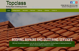 Topclass Roofing & Guttering Service - 7 days a week - call today for a free estimate!