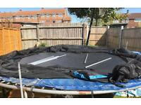 15ft trampoline, with full enclosure