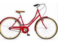 "Brand new. Ladies 18"" Single speed bike."