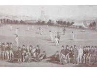 Cricket, framed print of 1849 Sussex v Kent