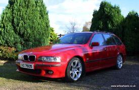 2002 BMW 530i M Sport Touring Imola Red 120k Black Leather