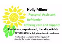 Personal Assistant/ Befriending/ Care & Support - (Level 3 Diploma in Residential Childcare)