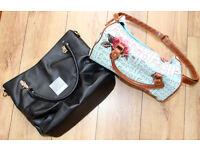 2 woman's handbag CARPISA & FERGI