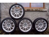 """Bmw Mv2 18"""" E60 E61 Alloy Wheels Can Sell Single Can Post Part Ex Welcome"""