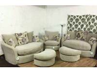 New 2+2 and swival chair plus footstool*free delivery*