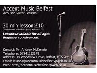 Accent Music Belfast - Acoustic Guitar Lessons - Dundonald/Castlereagh