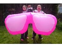 GIANT 6ft INFLATABLE HANGING SUNGLASSES / SHADES - BEACH PARTY THEME DECORATION nightclub marquee DJ