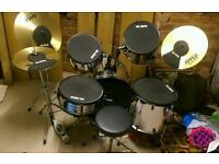 8 piece drum kit with bags and noise reduction pads